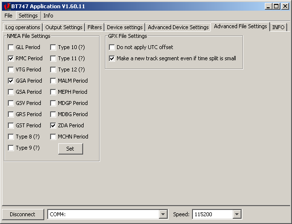 BT747 1.60.11 Advanced File