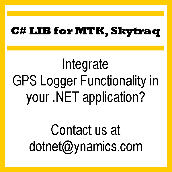 C# .NET Mediatek Skytraq Library